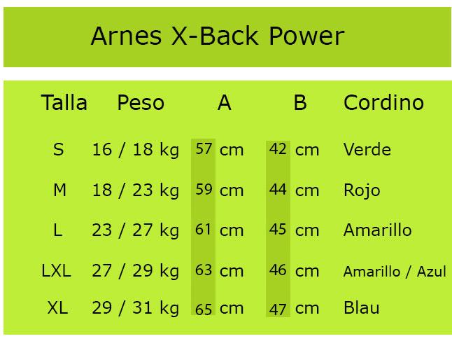 Tabla X-Back Power